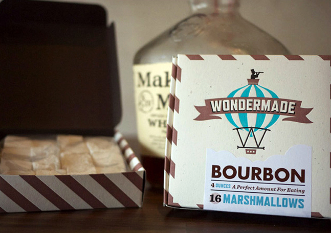 Bourbon & Guinness Marshmallows, coolmaterial.com $8