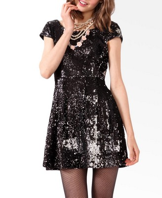 Sequined A-line