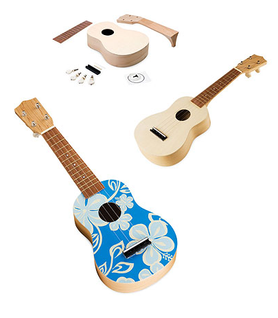 Make Your Own Ukulele Kit, uncommongoods.com $40