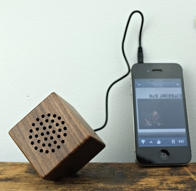 Wood Mini Speaker, coolmaterial.com $30