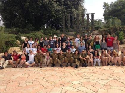 My Bus 1088 friends in front of the Knesset
