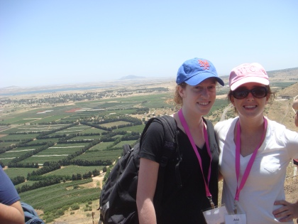 On top of Golan Heights with my new friend Andrea
