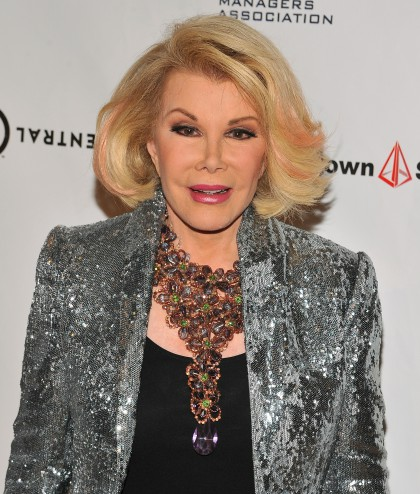 BEVERLY HILLS, CA - SEPTEMBER 19:  TV personality Joan Rivers attends the 12th Annual Heller Awards at The Beverly Hilton Hotel on September 19, 2013 in Beverly Hills, California.  (Photo by Angela Weiss/Getty Images)